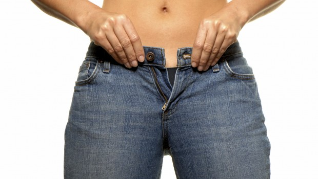 Woman no longer able to fit into her jeans